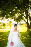 Шикарная невеста на ее день свадьбы Стоковое Изображение
