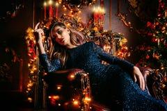 Шикарная ночь рождества стоковые изображения