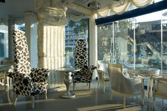 шикарная нутряная живущая комната Стоковое фото RF