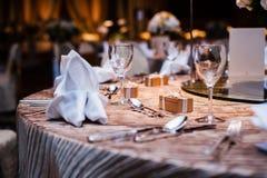 Шикарная обедая таблица Стоковая Фотография RF