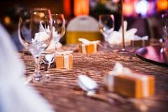 Шикарная обедая таблица Стоковое Фото
