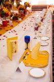 Шикарная обедая таблица Стоковая Фотография