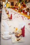 Шикарная обедая таблица Стоковое Изображение