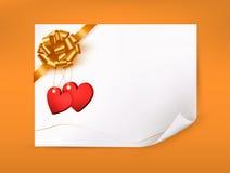 Шикарная предпосылка приветствию с сердцами Стоковое Изображение