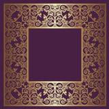 Шикарная рамка золота Стоковые Изображения
