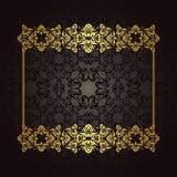 Шикарная рамка золота иллюстрация вектора