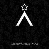 Шикарная рождественская открытка с символическим валом Стоковая Фотография