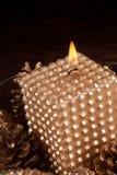 Шикарная свечка рождества Стоковая Фотография RF