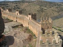 Шикарная стена замка в Ла Encina Baños de, Испании Стоковые Фото
