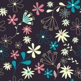 шикарная флористическая картина безшовная иллюстрация вектора
