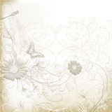 Шикарная ясная предпосылка свадьбы с флористическим орнаментом Стоковая Фотография RF