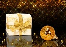 Шикарное золотое рождество Стоковое Фото