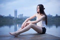 Шикарное photoshoot молодой женщины Стоковое фото RF