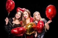 Шикарные женщины с воздушными шарами Стоковое Изображение