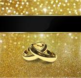 Шикарные обручальные кольца яркого блеска Стоковая Фотография RF