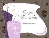 шикарные подарки пурпуровые Стоковое фото RF