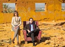 Шикарные люди в кризисе Стоковая Фотография