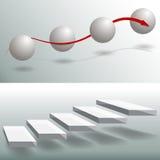 Шикарные диаграммы дела лестниц сферы Стоковое Изображение RF