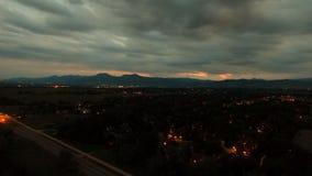 Шикарный взгляд от трутня в валуне Колорадо Стоковая Фотография