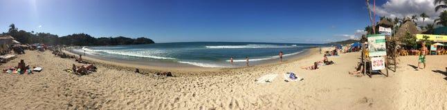 Шикарный день на пляже Sayulita стоковые изображения rf