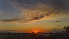 шикарный заход солнца Стоковое Изображение