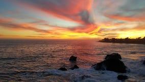 шикарный заход солнца стоковое фото rf