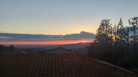 шикарный заход солнца Стоковые Изображения RF