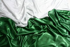 Шикарный зеленый и белый шелк Стоковое Фото