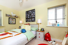 Шикарный интерьер спальни дома выставки детей Стоковое Фото