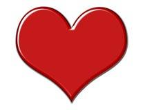 шикарный красный цвет сердца Стоковое Изображение
