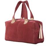 шикарный красный цвет сумки corduroy Стоковые Фото