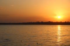 Шикарный рассвет на лимане Kuyalnık стоковое изображение rf