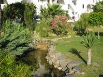 Шикарный сад в Torrox, Испании Стоковые Изображения RF