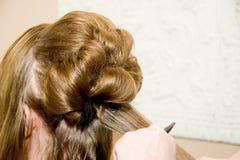 шикарный стиль причёсок Стоковые Фото