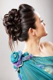 шикарный стиль причёсок Стоковая Фотография