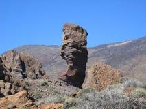 Шикарный утес в национальном парке El Teide, Испании Стоковая Фотография