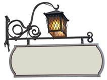 Шильдик с фонариком стоковое изображение