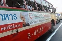 Шина в городском Бангкоке Стоковые Изображения RF