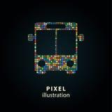Шина - иллюстрация пиксела Стоковая Фотография RF