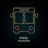 Шина - иллюстрация пиксела Стоковое фото RF