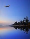 Шина самолета & воздуха стоковое фото rf
