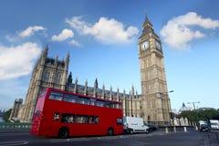 шина london красная Великобритания ben большая Стоковые Изображения