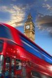 шина london красная Великобритания ben большая Стоковая Фотография RF
