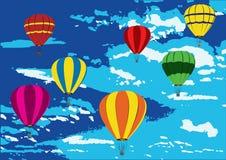 шипучка воздушных шаров искусства иллюстрация вектора