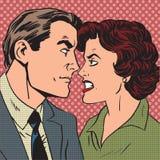 Шипучка ненависти влюбленности ссоры семьи женщины человека конфликта Стоковые Изображения RF