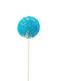 Шипучка торта с декоративной синью брызгает Стоковое фото RF