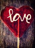 Шипучка lolly сердца Стоковая Фотография