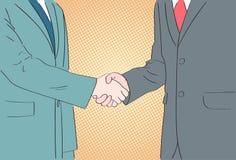 Шипучки рукопожатия искусства бизнесмены встряхивания рук бесплатная иллюстрация
