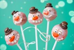 Шипучки торта снеговика Стоковое Фото