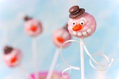Шипучки торта снеговика Стоковая Фотография RF